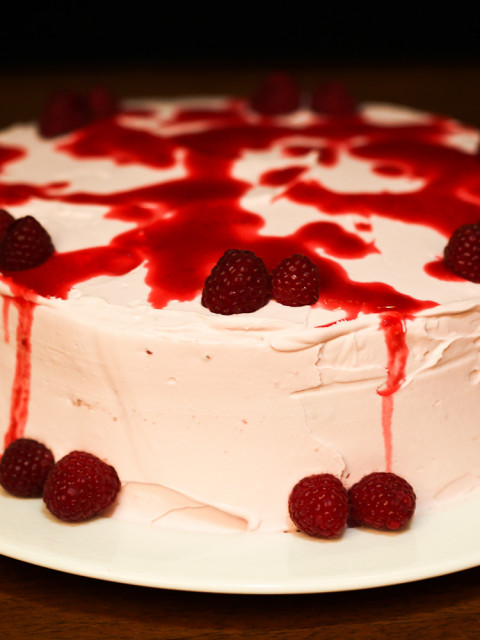cake vanilla / raspberry